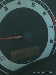 38C by car thermometer