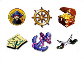 free Captain's Treasure slot game symbols