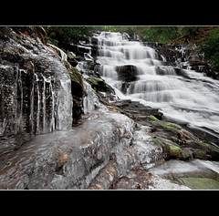 Icewater Runs in Her Veins (Jeff Milsteen) Tags: county lake cold ice jeff nature forest georgia landscape frozen waterfall freezing falls national waterfalls icicles rabun minnehaha chattahoochee hww jlmphoto milsteen