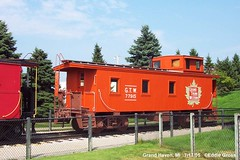 Preserved wooden Grand Trunk Western caboose. Grand Haven Michigan.