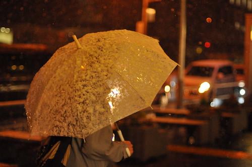 Paraguas casi transparente