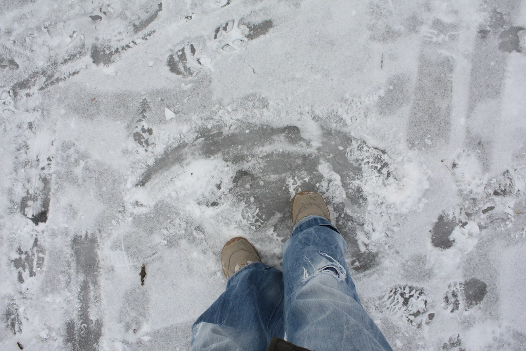 10cm dicke Eisschicht im ganzen Prater