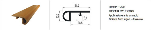 Belpassi Components: Profili rigidi in PVC - Rigid profiles in PVC