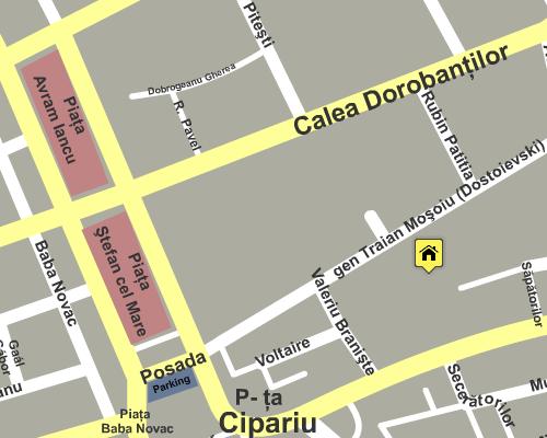 Harta Asociaţia Creştină Cristos pentru România
