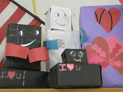 A Few Robots & A Decorated Box