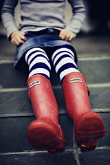 (Shelba) Tags: red boots stripes tights hunter friday frontporch wellies mygirl andnotmuchelse project365 notsurewherethedaywent droveztoherlessontoday