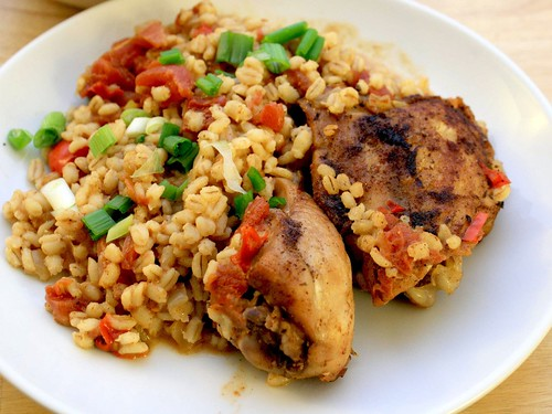 Spiced Chicken with Barley