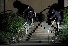 Trent Food Max Rail (Joey Houle) Tags: chris winter jared food max cold weather set lights video nikon bmx stair joey