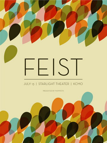 feist poster by vahalla studio