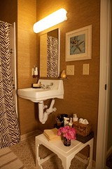 JB Soul Homes (It's Great To Be Home) Tags: wallpaper bathroom zebra neutral mosaictile grasscloth