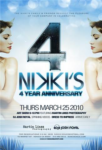 Nikkis Venice Beach 4 Year Anniversary