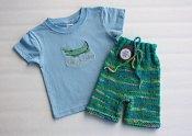 See Ya Later set - knit shorties & embroidered shirt - small