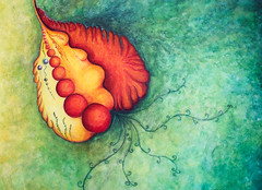 Orgánica (ALICIA LUSAN) Tags: color arte acuarela creatividad curvas orgánico imaginación abtracto