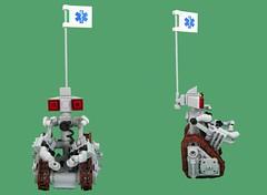 Medic-Bot (Karf Oohlu) Tags: lego injury medic droid mech medicbot droidbattlefield