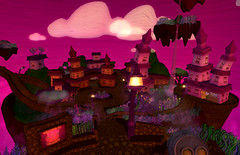 """Lunamaruna"" by Scottius Polke (Teal Freenote) Tags: color whimsy cartoon secondlife installationart virtualart slart slartist tealfreenote scottiuspolke"