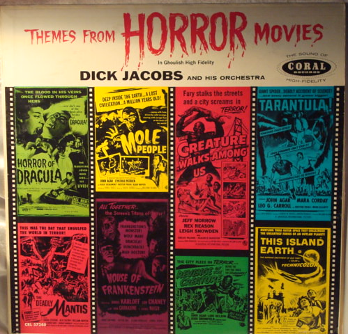 THEMES FROM HORROR MOVIES RECORD LP