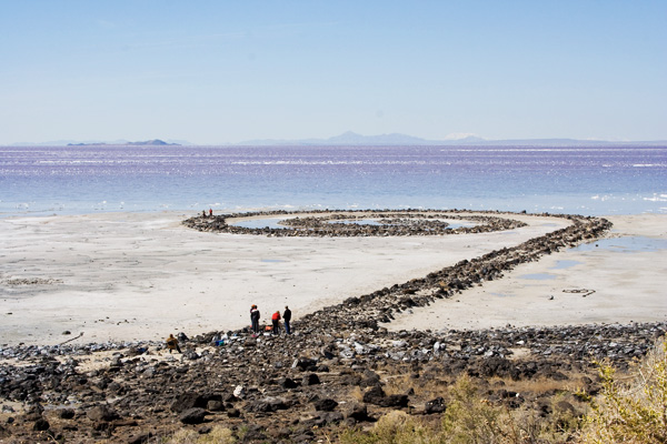 The Spiral Jetty of the Great Salt Lake