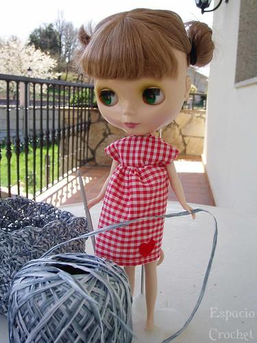 Blythe likes crocheting