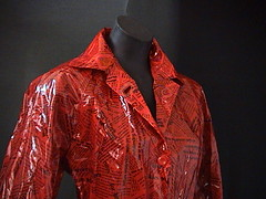 red dream (rainfash) Tags: mac vinyl raincoat pvc regenmantel lackmantel