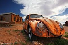 Outback Beetle (-yury-) Tags: sky car vw volkswagen silverton beetle rusty australia outback brokenhill