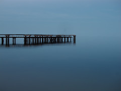 [no] Horizon (Gn!pGnop) Tags: blue water relax pier still construction alone escape horizon relaxing calm unfinished lonely anti stillness darkblue lightblue nowave unbuilt nonexistant nowaves atone nohorizon sightlines
