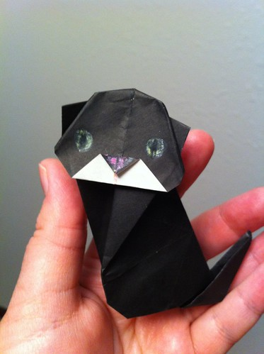Black kitty origami