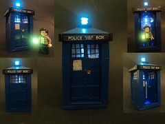TARDIS (billbobful) Tags: blue lights lego time box who dr space police led doctor tardis dimension relative dimensions