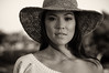 Alexis (reesem226) Tags: alexis portrait blackandwhite hawaii model eyes afternoon skin oahu bokeh hill naturallight bust dreamy breeze gaze gentle kakaako widebrimmedhat nikond300 nikon80200afd silverefexpro2