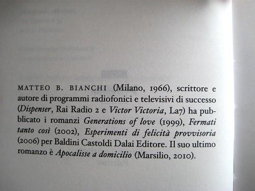 Matteo B. Bianchi, Gatta gatta, :duepunti edizioni 2011; progetto grafico di .:terzopunto; recto del frontespizio (part.), 1