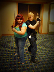 Leon & Zombie (stormymoorecosplay) Tags: park chris john hearts ada costume cosplay zombie alice south bleach evil kingdom stormy s moore leon wong wonderland naruto vivi kennedy chapman roxas pence resident redfield 2011 ouran vipperman stormymoorecosplay roundcon
