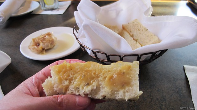 Italian bread with roasted garlic