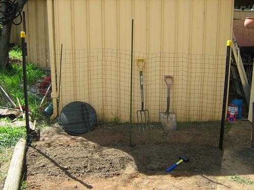 Garden bud dug in