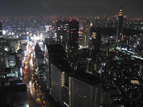 A view of Shinjuku, Tokyo.