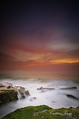 Processing all the kiddos is kinda getting a bit overwhelming (cteteris) Tags: ocean longexposure sunset bali seascape indonesia landscape rocks waves tanahlot 20mm28 nikond700 believeitornotthiswasactuallyareallycrappysunset superhazyandnasty but