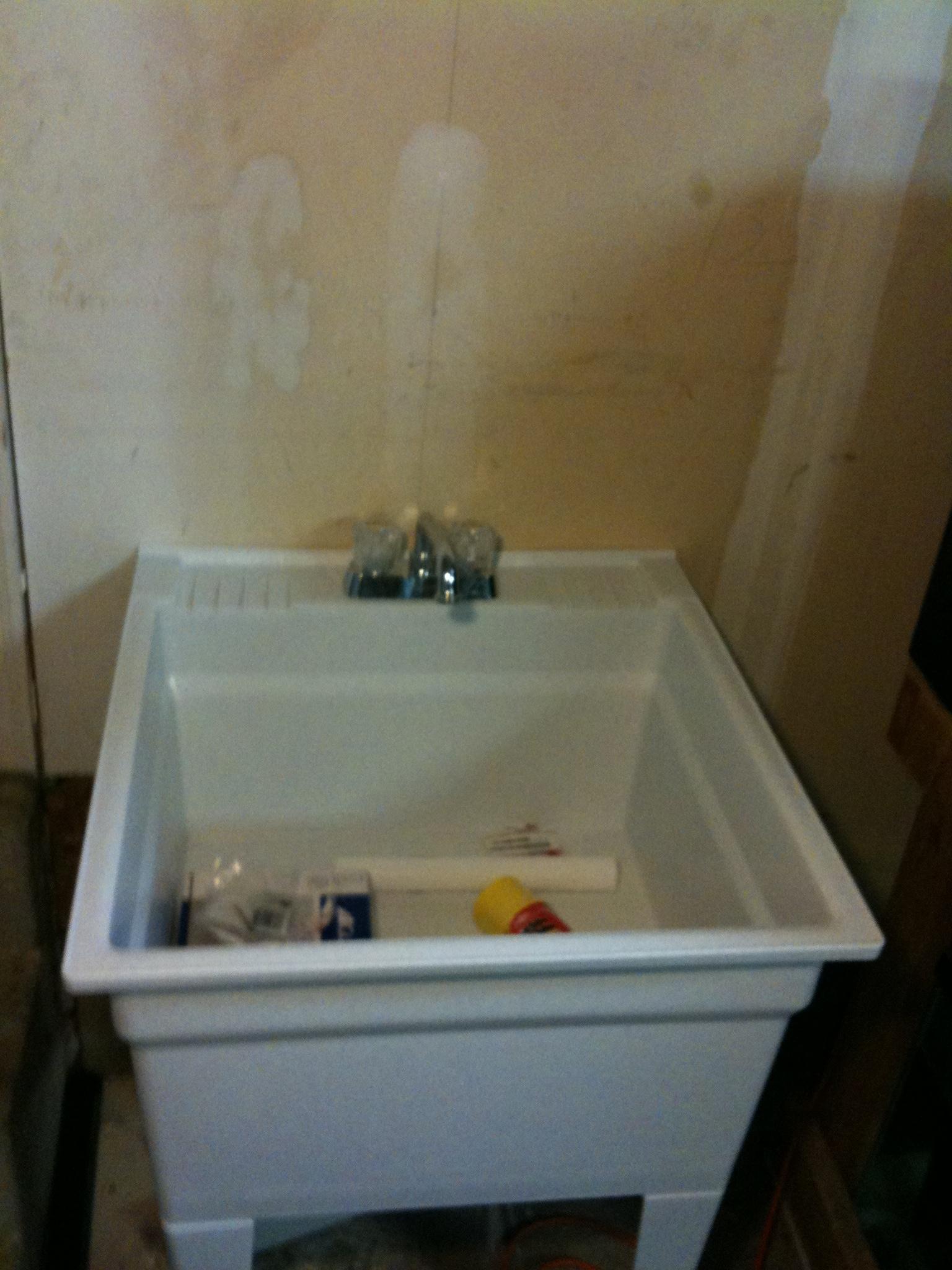 Utility Sink In Garage : Installing a Utility Sink in my Garage MonsterFishKeepers.com