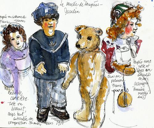 Josselin, Brittany, Musee de Poupees