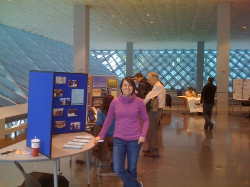 Emily at Archives Fair, Seattle Public Library