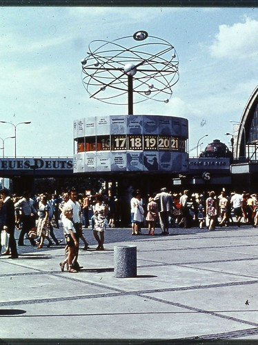East Berlin 1980 - Clock Showing World Times