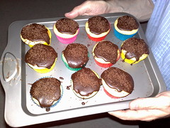 Vanilla Cupcakes with Chocolate Icing