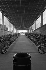 Fietsparking Station Kortrijk (bm^) Tags: white black station bike blackwhite nikon belgium belgique zwartwit parking belgi bikes westvlaanderen cycle bicyclette zwart wit fietsen kortrijk courtrai d90 blackwhitephotos mywinners fietsparking westernflanders saariysqualitypictures nikond90bw