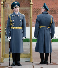 Guards at the Tomb of the Unkown Soldier, Kremlin, Moscow, Russia (goneforawander) Tags: travel tourism soldier nikon europe republic russia moscow country union guard d70s tourist backpacking soviet former bloc eastern kremlin   rmy goneforawander