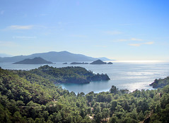 View on 12 islands from Katranc (VillaRhapsody) Tags: november blue autumn sea turkey coast mediterranean fethiye gcek kayaky challengeyouwinner villarhapsody katranc