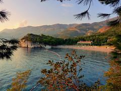 Milocer (stastie) Tags: sunset sea mountains beach hotel balkans montenegro kotorbay milocer