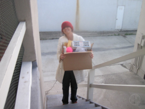lugging my craft box upstairs