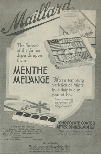 Delineator 1916 ad for Maillard Menthe Melange of mints