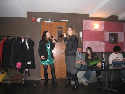 Jodi and Amanda singing a duet