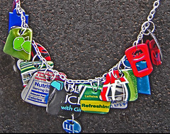 Composition: Necklace from Recycled Aluminum Cans~ 1 of 3 photos [Photo by Urban Woodswalker] (CC BY-SA 3.0)