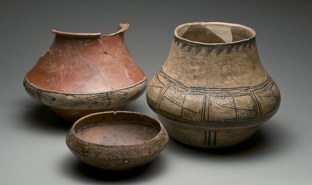 Decorated pots and bowl