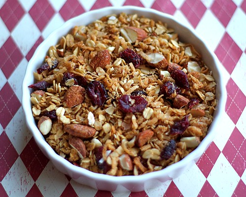 Homemade Granola with Coconut, Dried Cranberries, and Almonds | Two ...