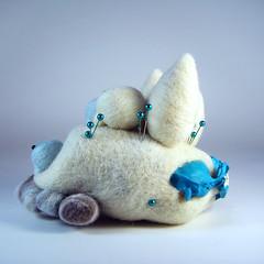 """Winter Peascape"""" (Kit Lane) Tags: wool felt peas bone needlefelted kitlane winterpeascape"""